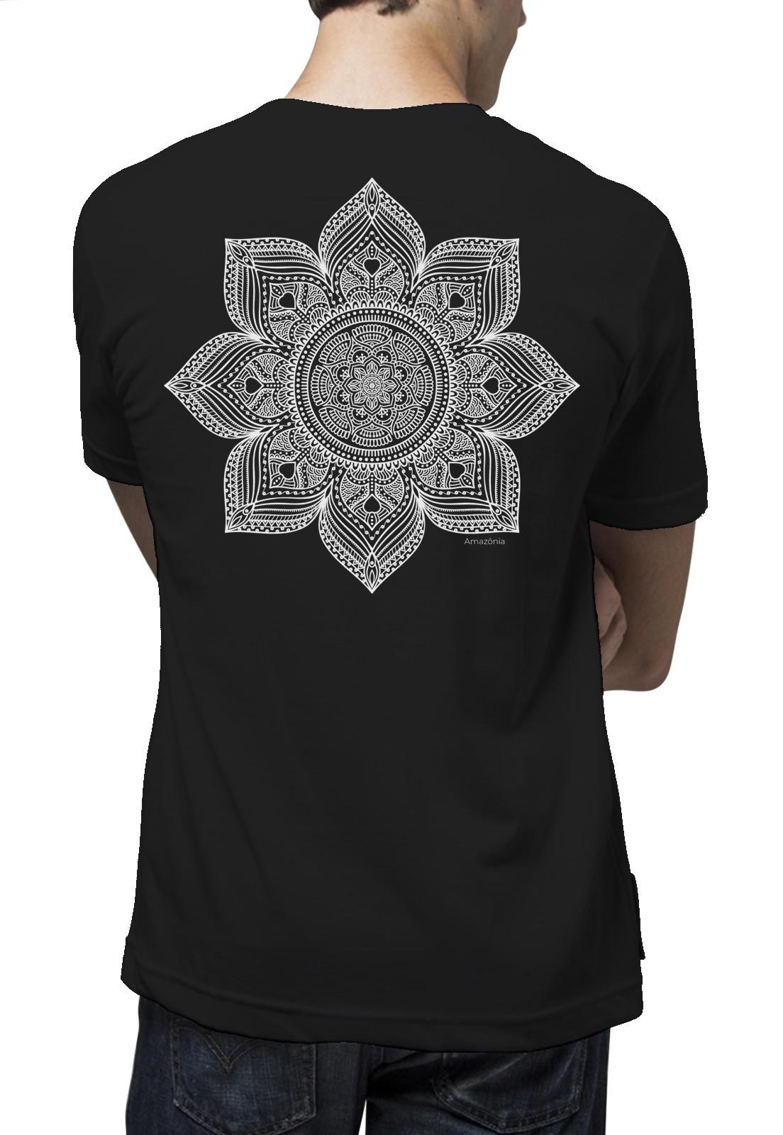 Camiseta Amazônia Taj Flower - Preto