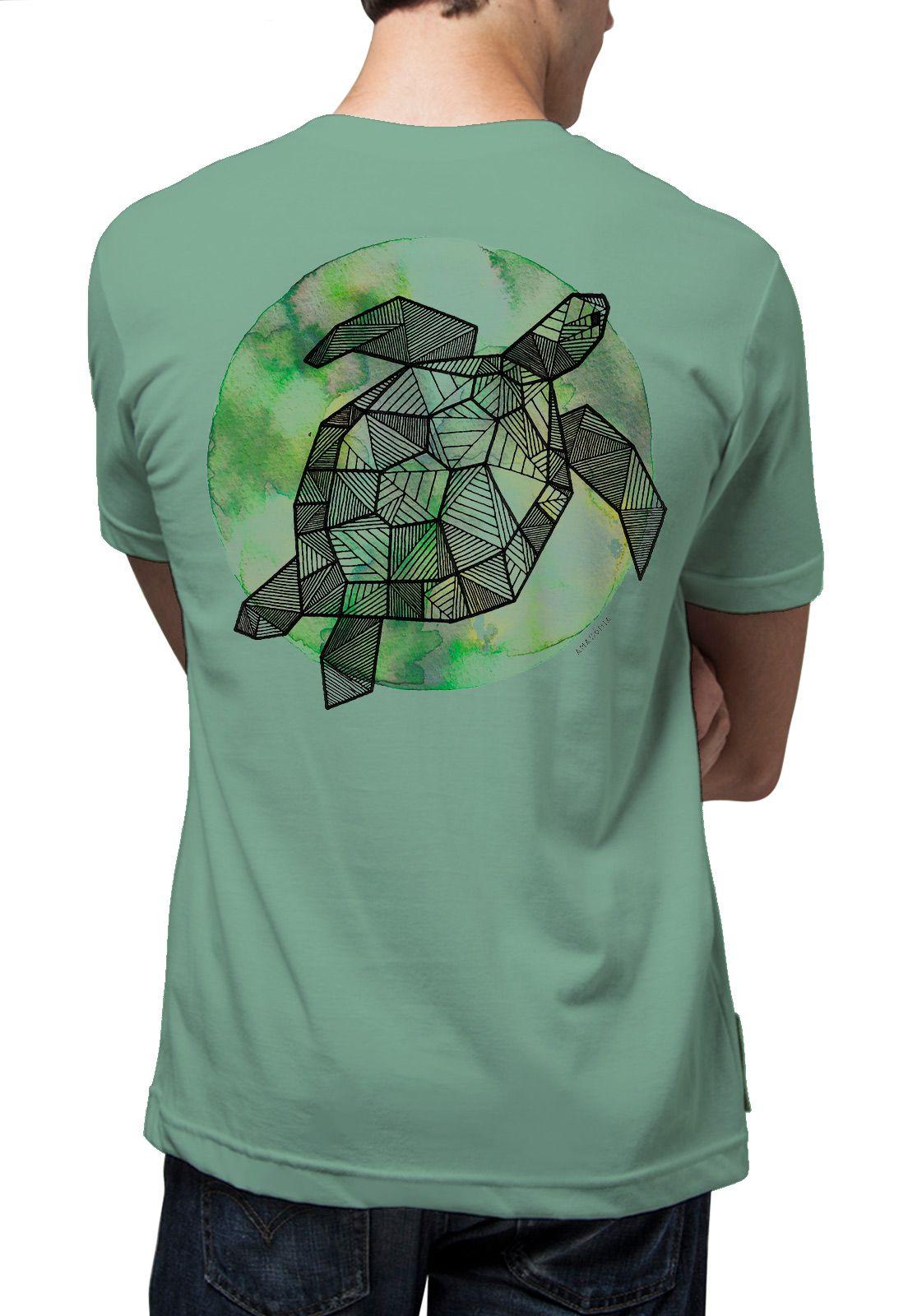 Camiseta Amazônia Tartaruga Grafismo - Verde