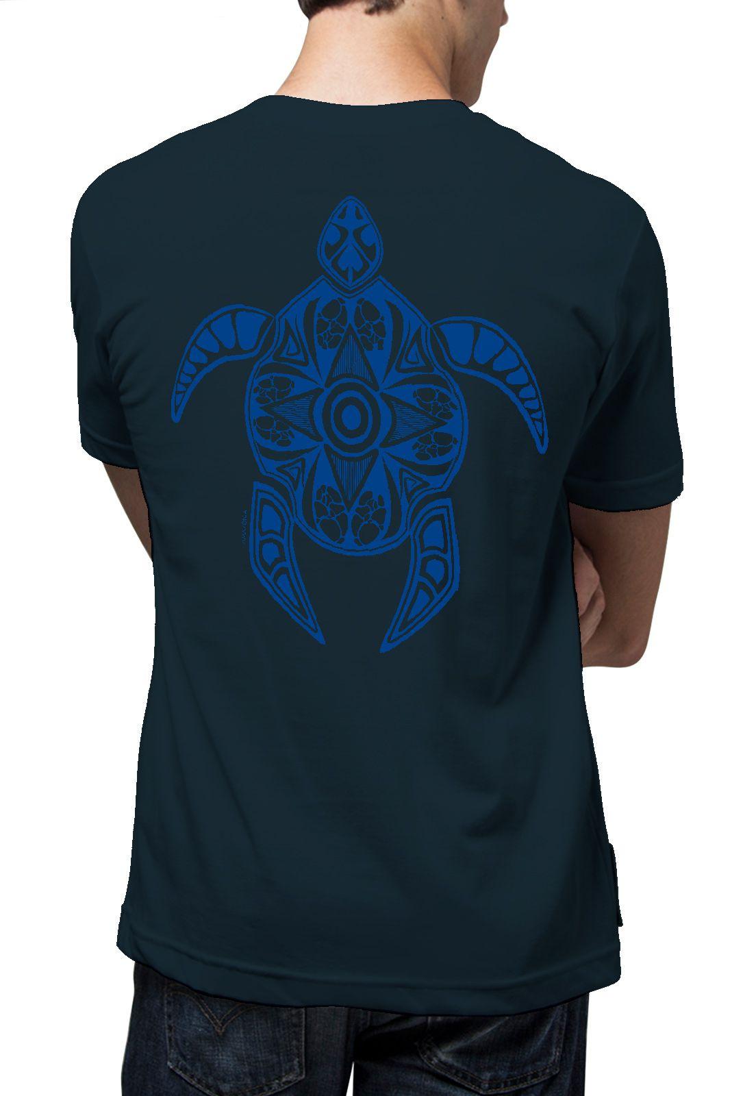 Camiseta Amazônia Tartaruga Maori - Azul Escuro