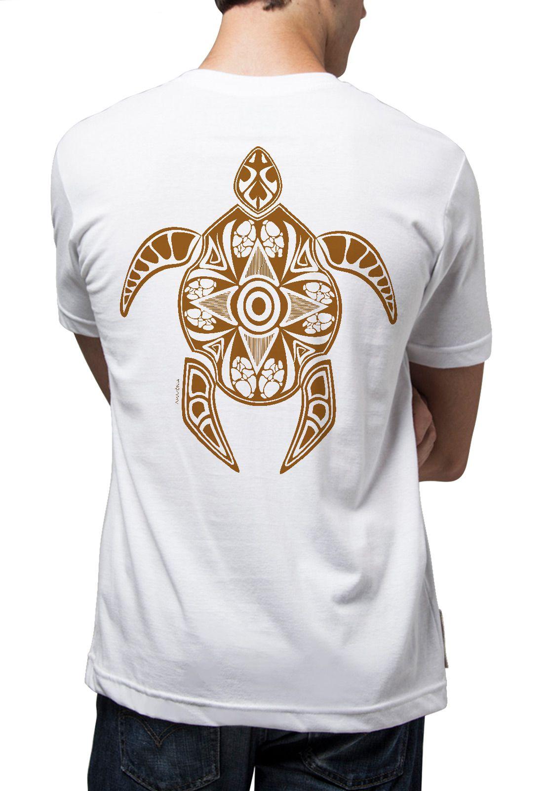 Camiseta Amazônia Tartaruga Maori - Branco