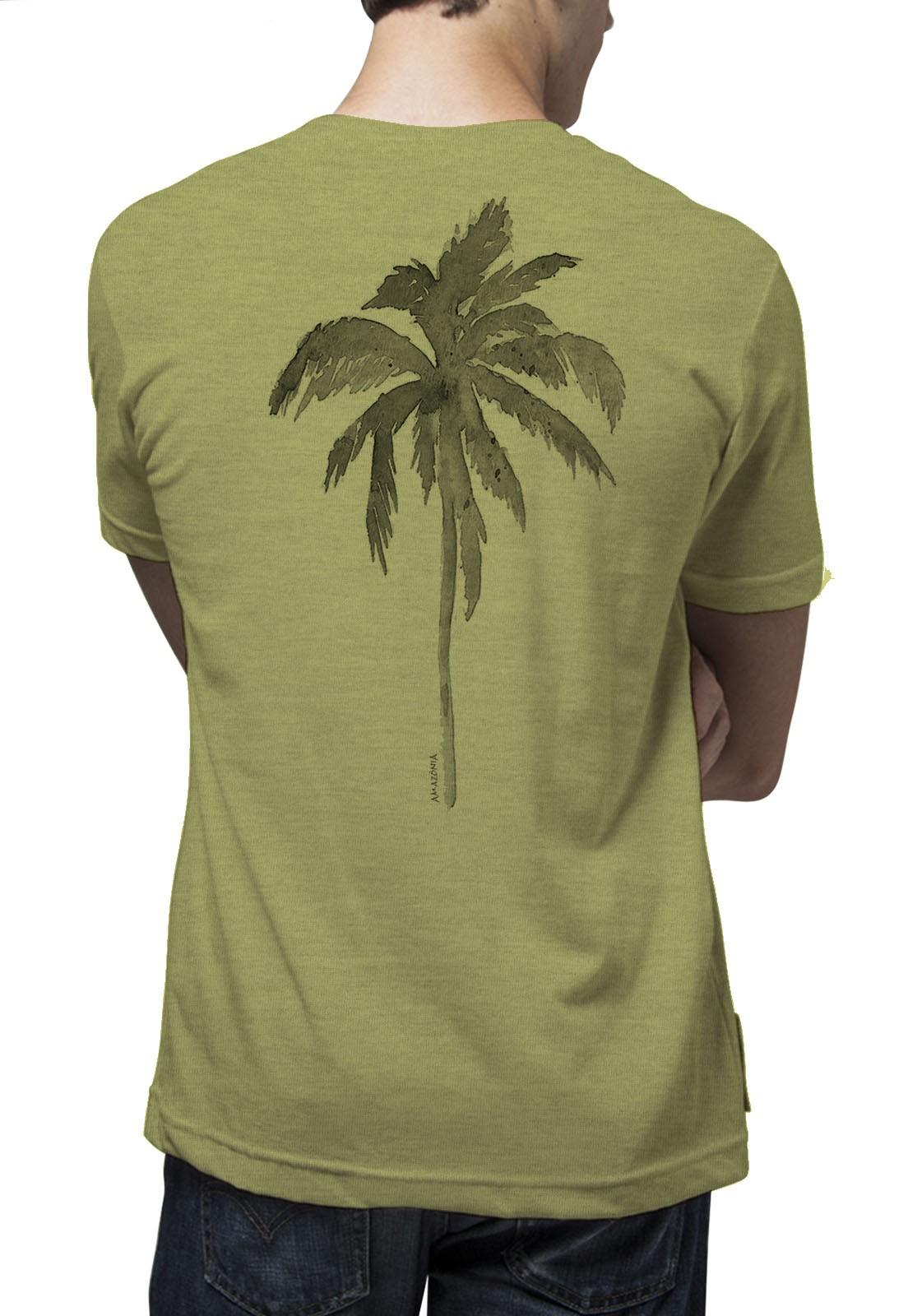 Camiseta Amazônia Tropical - Mescla Amarelo
