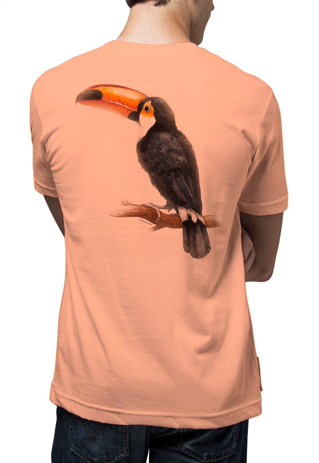 Camiseta Amazônia Tucano Clássico - Salmão