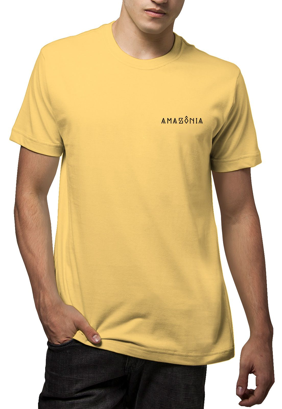Camiseta Amazônia Tucano Grafismo - Amarelo
