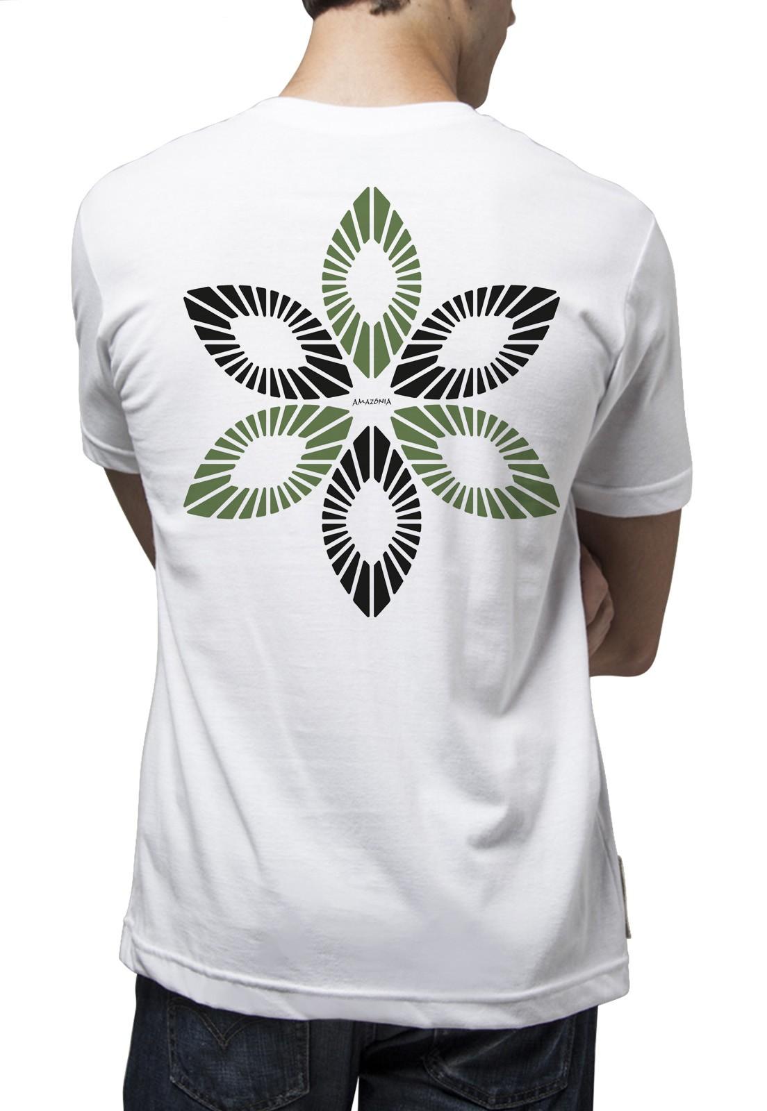 Camiseta Amazônia União Natural - Branco