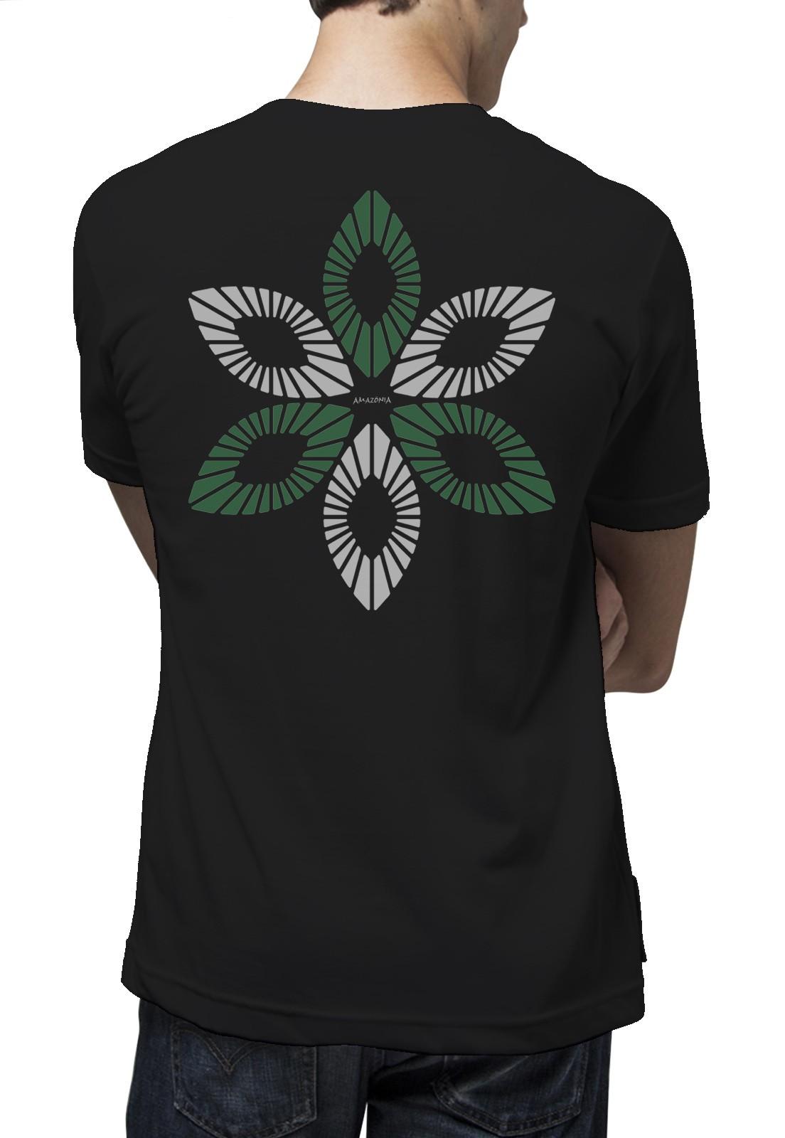 Camiseta Amazônia União Natural - Preto