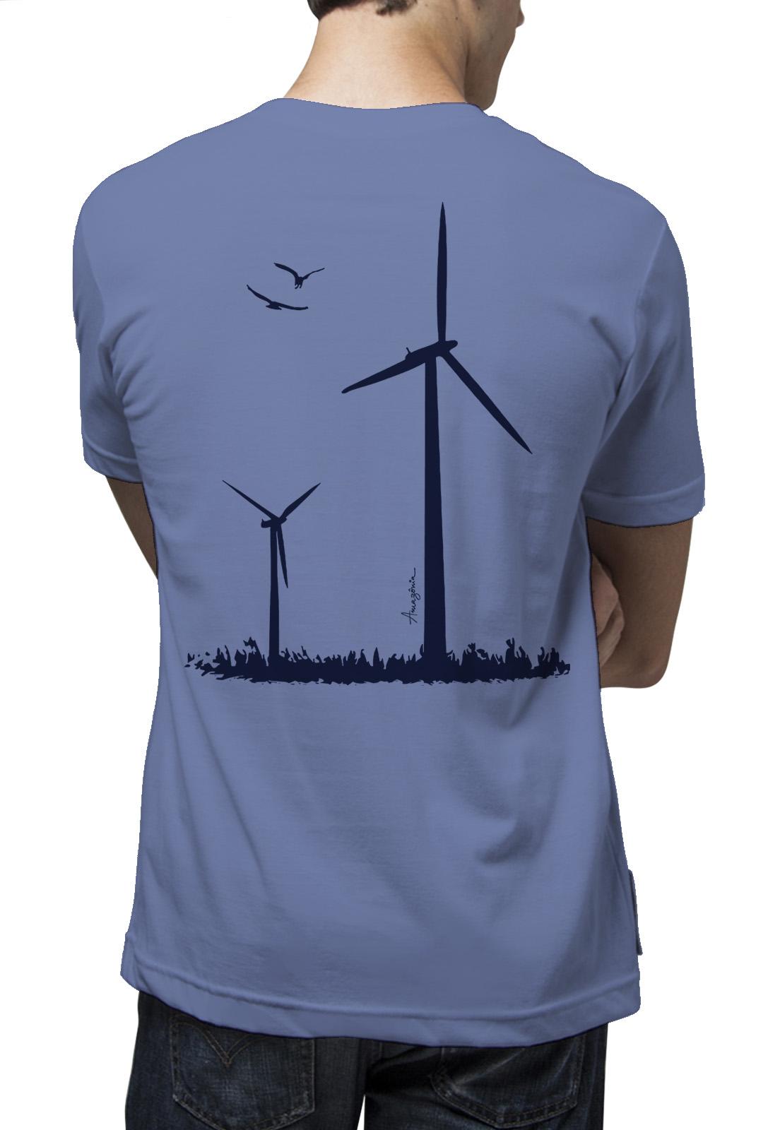 Camiseta Amazônia Vento - Azul