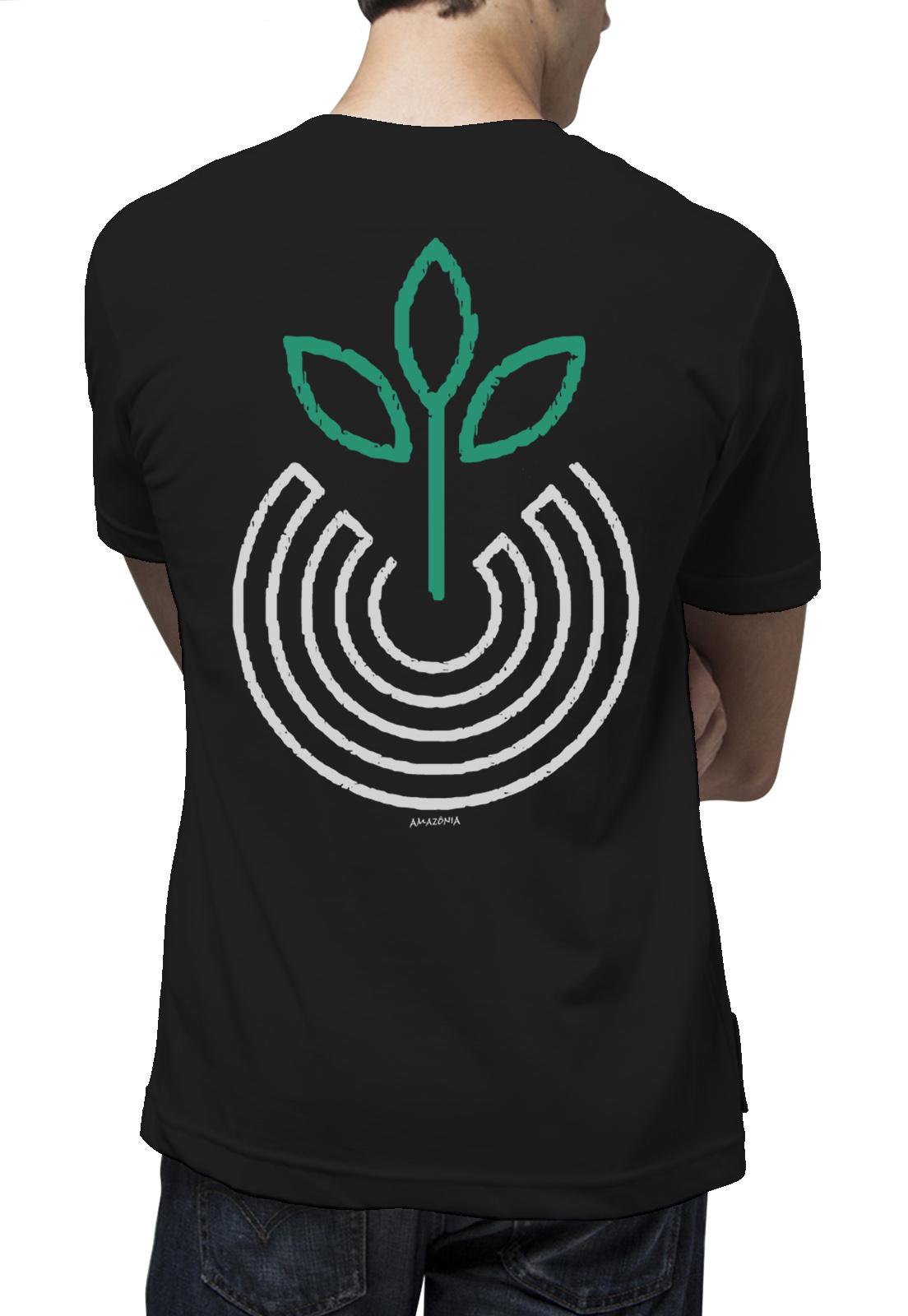 Camiseta Amazônia Vibração Positiva - Preto