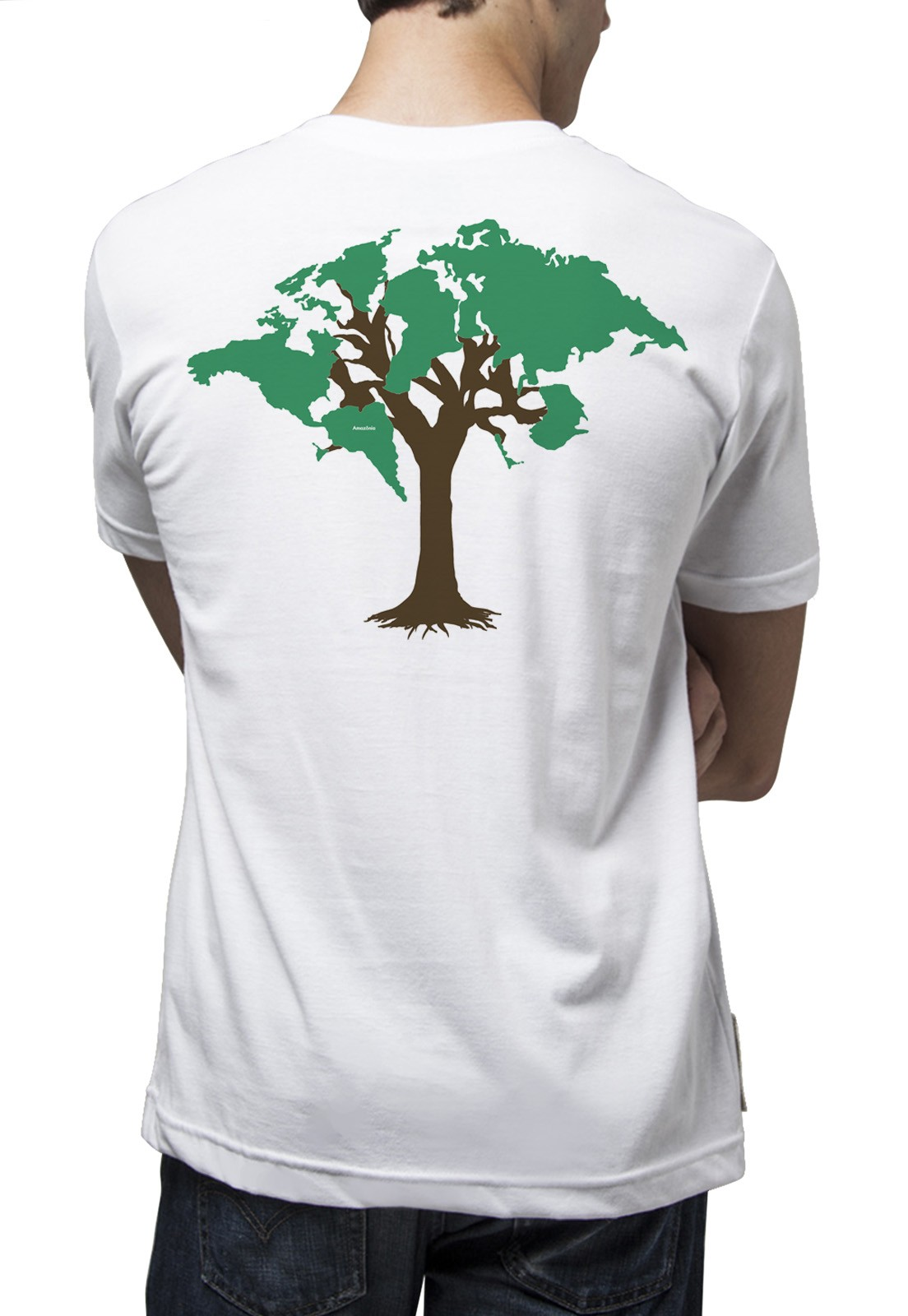Camiseta Amazônia World Tree - Branco
