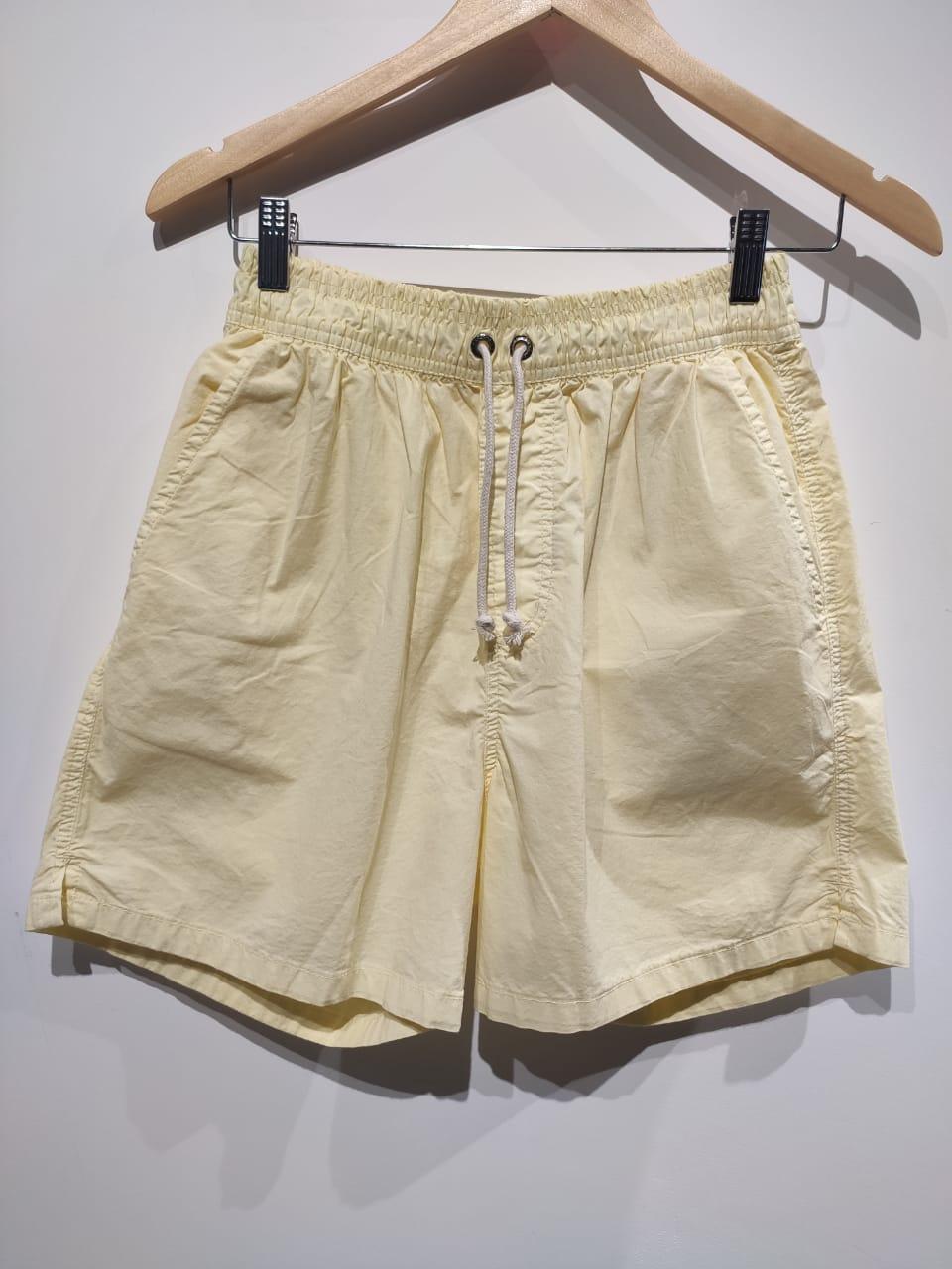 Short de Algodão com Elastano - Amarelo