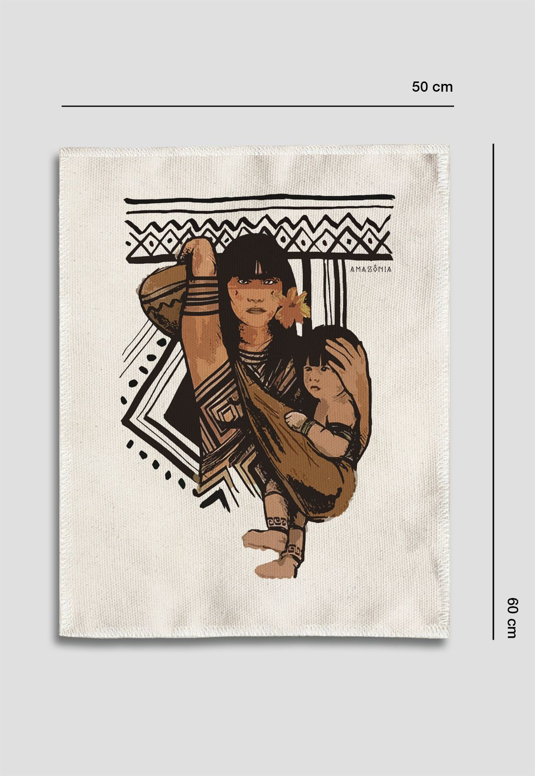 Tela Amazônia - Família Indígena