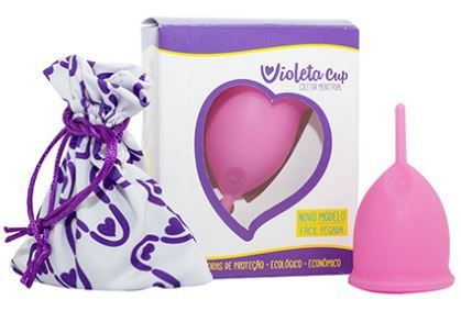 Coletor Menstrual Violeta Cup Tipo A Rosa