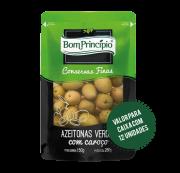 Azeitonas Verdes com Caroço Pouch 150g ( Caixa com 12 unidades )