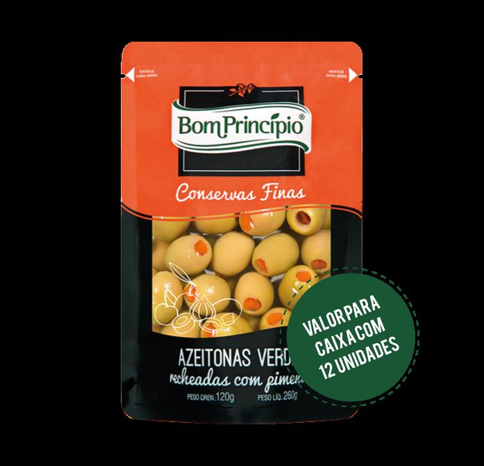 Azeitonas Verdes Recheadas Pouch 120g ( Caixa com 12 unidades )