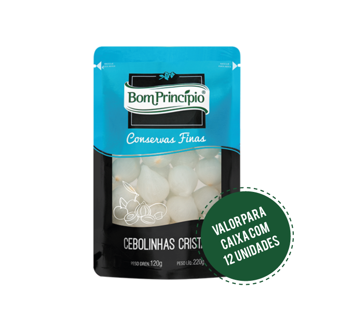 Cebolinhas Cristal Pouch 120g ( Caixa com 12 unidades )