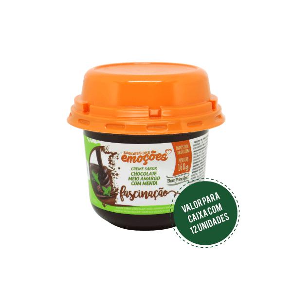 FASCINAÇÃO - Creme Sabor Chocolate Meio Amargo com Menta 160g ( Caixa com 12 unidades )