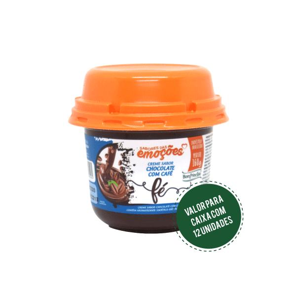 FÉ - Creme Sabor Chocolate com Café 160g ( Caixa com 12 unidades )