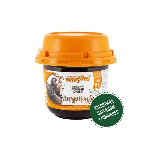 INSPIRAÇÃO - Creme Sabor Chocolate Dark 160g ( Caixa com 12 unidades )