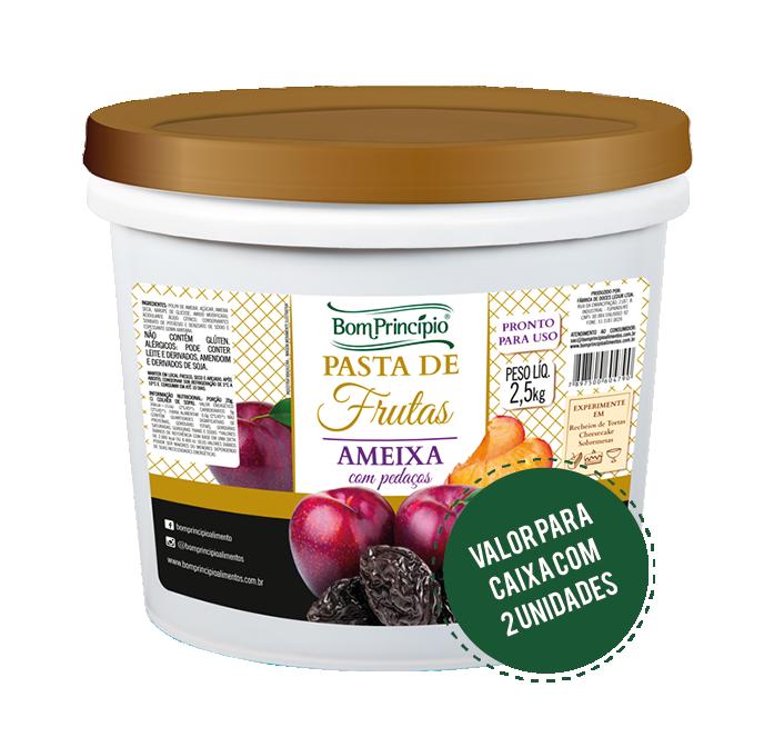 Pasta de Frutas Ameixa com Pedaços 2,5kg ( Caixa com 2 unidades )