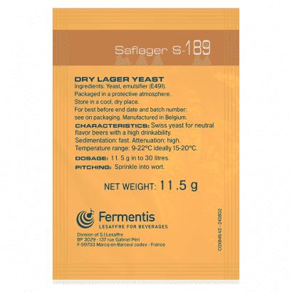 FERMENTO  S-189 - FERMENTIS (LAGER)