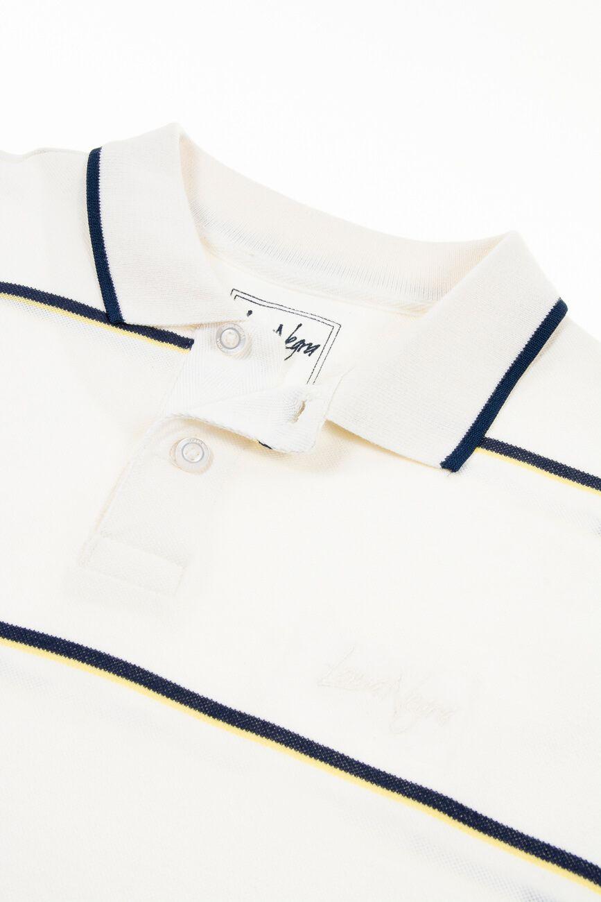 Camisa Polo Masculina em Piquet Classica - Off White