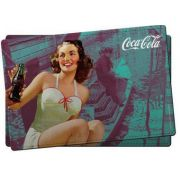 Jogo Americano Coca-Cola Pin-Up Girl - set com 2