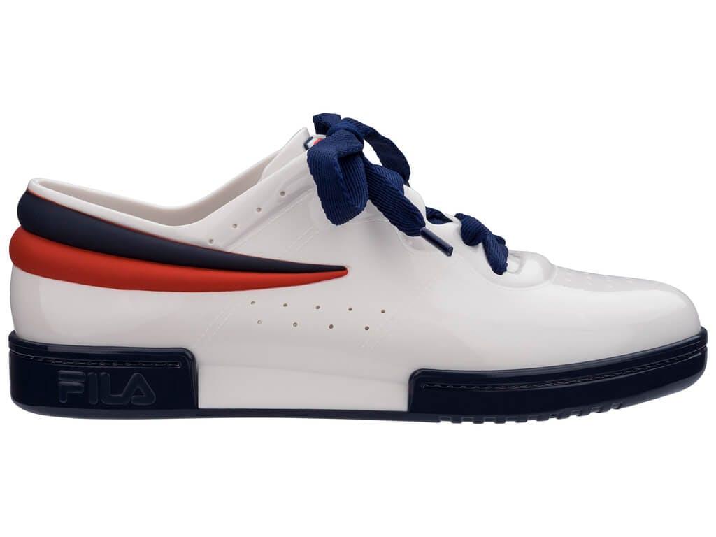 Melissa Sneaker + Fila Branco/Azul/Vermelho