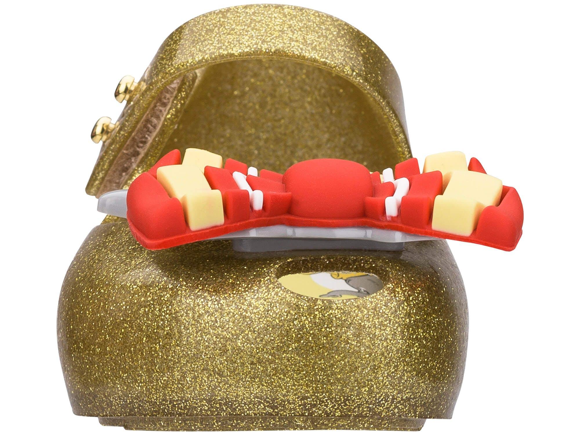 Mini Melissa Ultragirl Dumbo Vidro Glitter Ouro