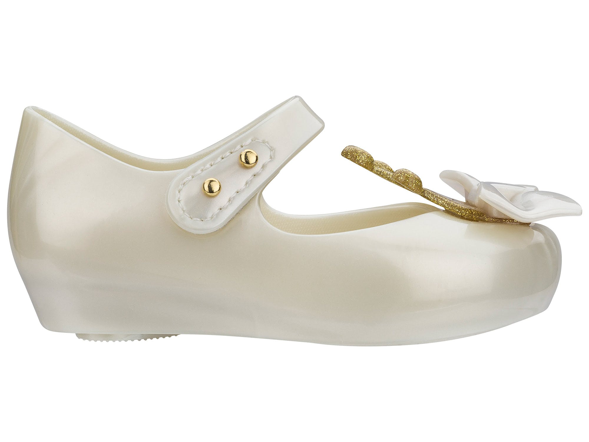 Mini Melissa Ultragirl Princess Branco Cintila Metal