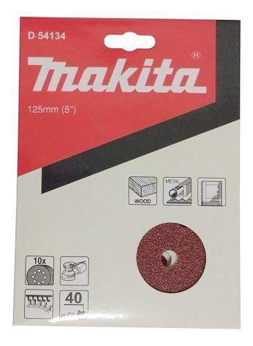 Discos De Lixa 125mm Grao 40 C/10 D-54134 Makita