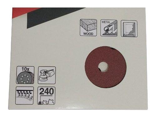 Discos De Lixa 125mm Grao 240 C/10 D-54209 Makita
