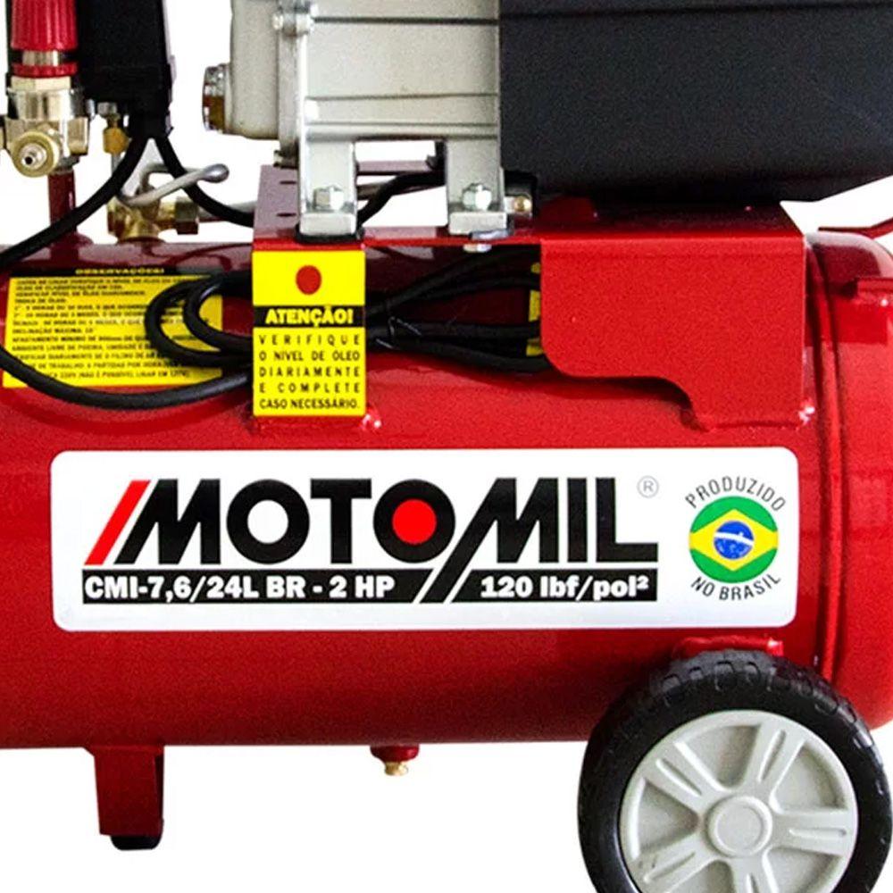 COMPRESSOR 24 L 120LBS 1,25HP  MONO 220V - MAN -7,4 MOTOMIL