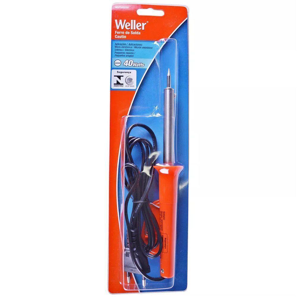 FERRO DE SOLDA WELLER 40W 220V  - WSPI40220