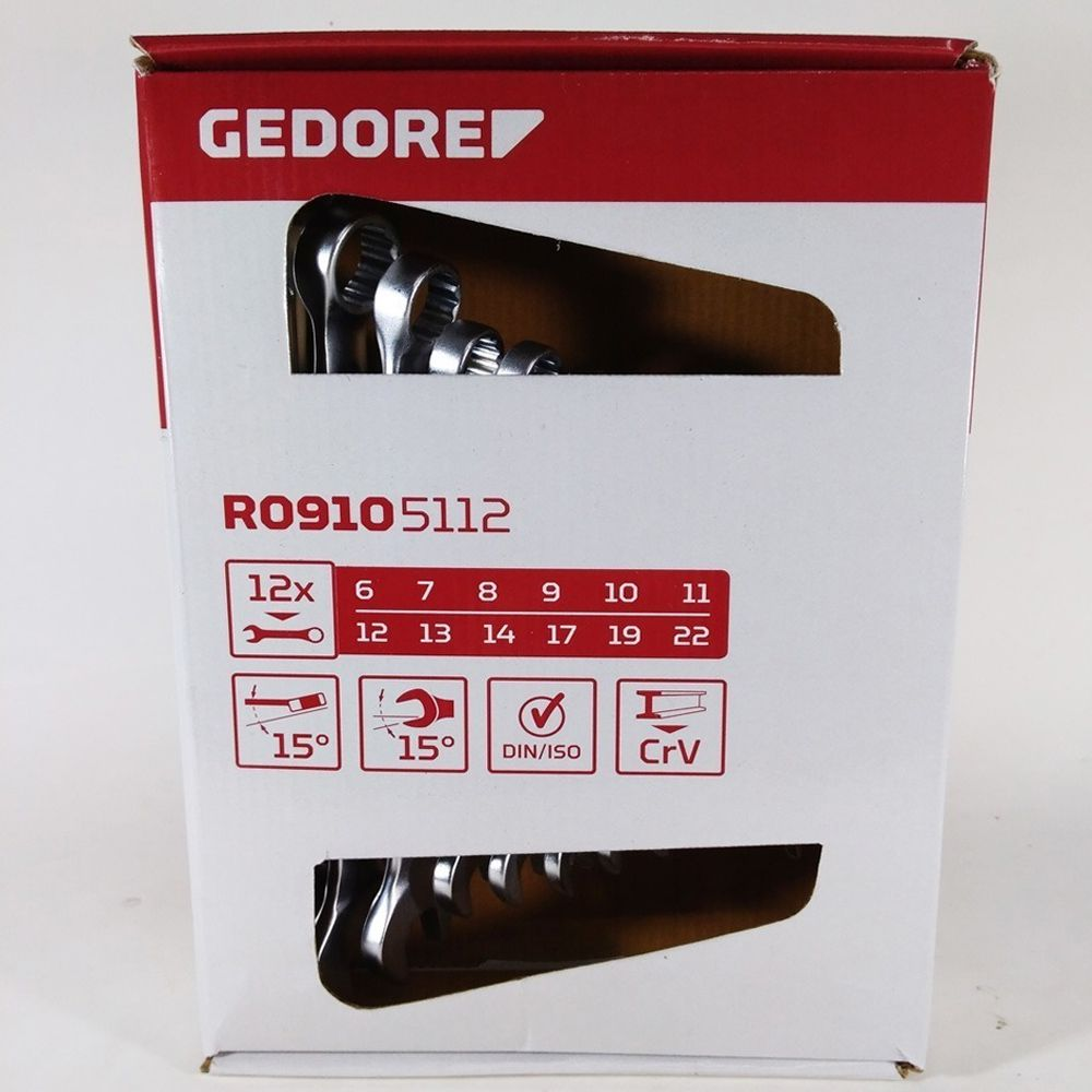 JOGO CHAVE COMBINADA 6 A 22MM GEDORE RED