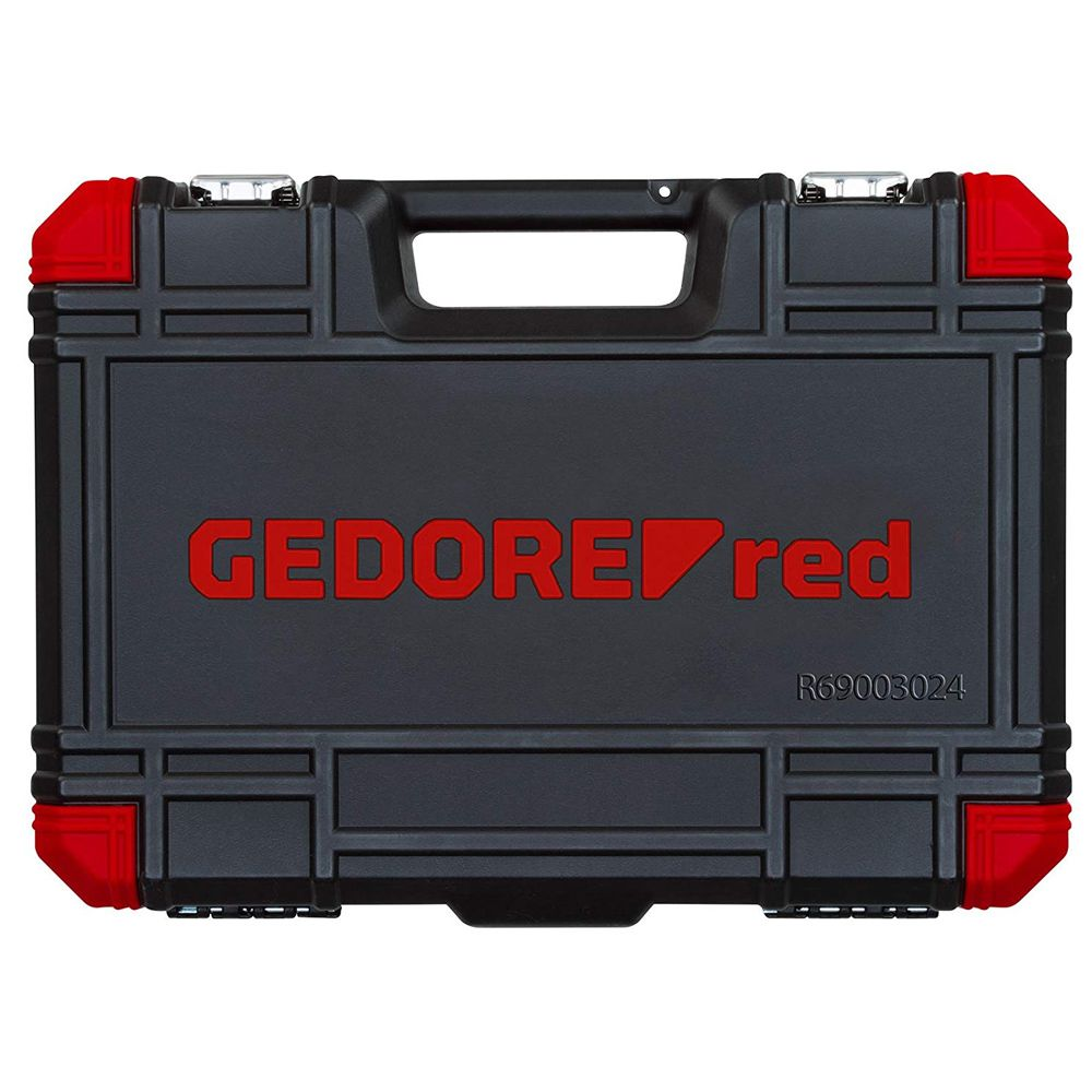JOGO SOQUETE 1/2 24PCS 10-32MM GEDORE RED