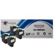Kit 3 Toners Compatíveis Com Lexmark Cx417de Cs417  B/m/y Cartucho & Cia