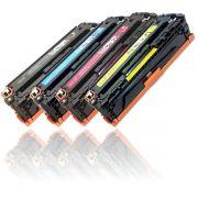 KIT 4 Toners compatíveis com HP CF210A CF211A CF212A CF213A PRO-200 M251NW M251N M251 M276 1.400 Páginas - Cartucho & Cia