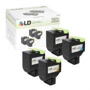 Toner compatível Lexmark [71B4HC0] Ciano - impressoras CS417/517DN - 3.500 Páginas - Cartucho & Cia