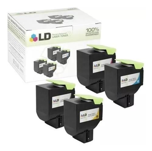 Kit - 4 Toner Lexmark [70C8HK0] CS310dn/CS410/CS510 - 4k e 3k - Black, Ciano, Magenta e Yellow MLB1250642082