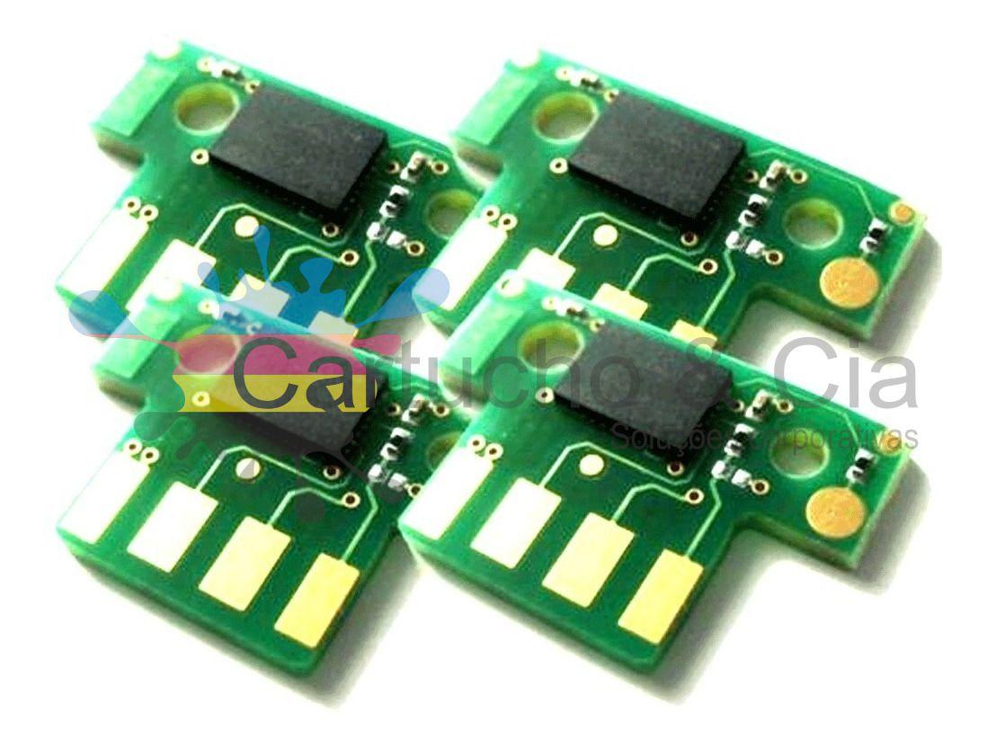 Chip compatível com Lexmark [71B4HC0] Ciano CX417/517 3.500 Páginas - Cartucho & Cia