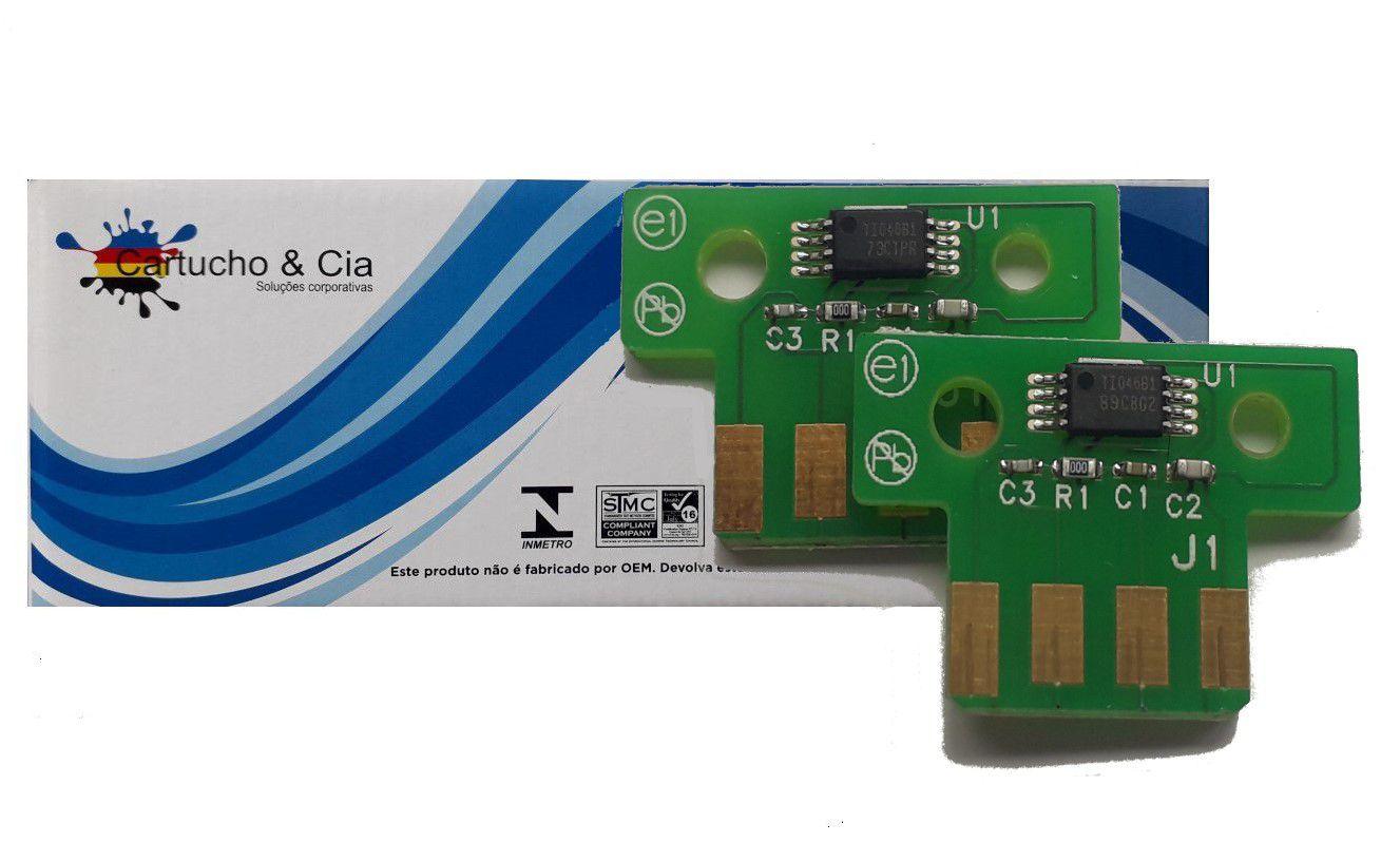 Chip compatível com Lexmark [71B4HC0] CX417 CX517 3.500 Páginas  Ciano - Cartucho & Cia