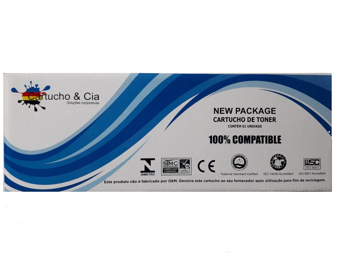 Toner compatível com HP HP CE255X CE255XB P3015 P3015N P3015D P3015DN P3015X M525F 10.000 Páginas - Cartucho & Cia