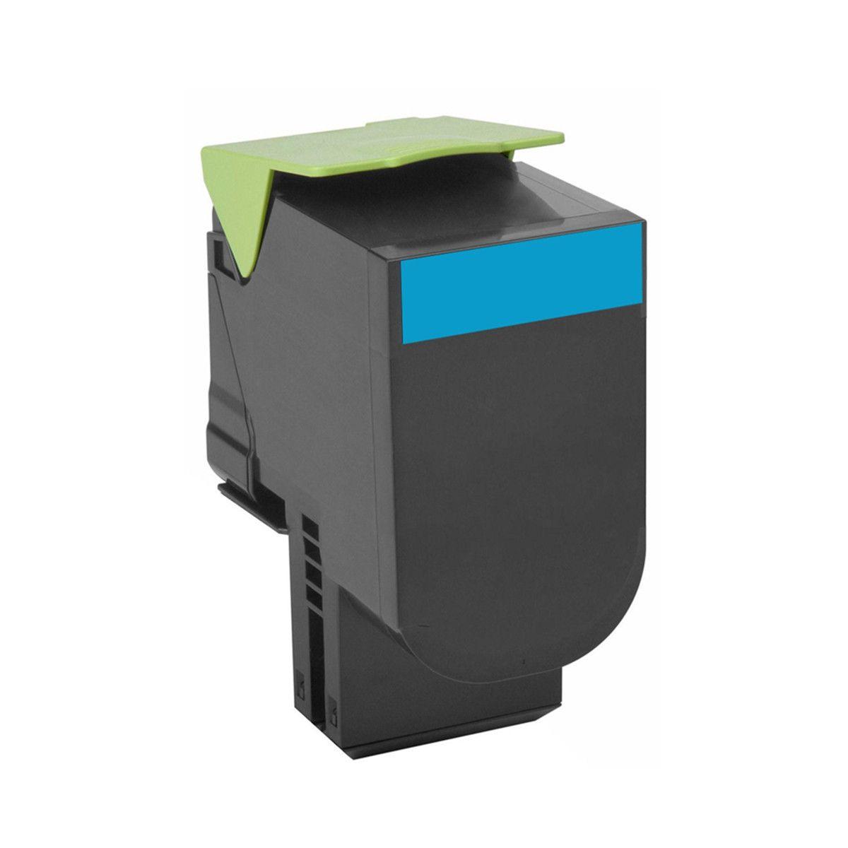 Toner compatível Lexmark [71B4HC0] Ciano - impressoras CS417/CS517DN - 3.500 Páginas - Cartucho & Cia