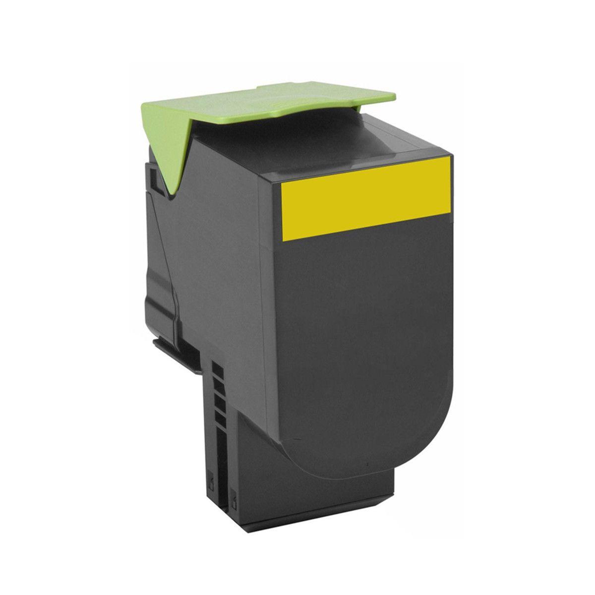 Toner compatível Lexmark [71B4HY0] Yellow - impressoras CX417/517DN - 3.500 Páginas - Cartucho & Cia
