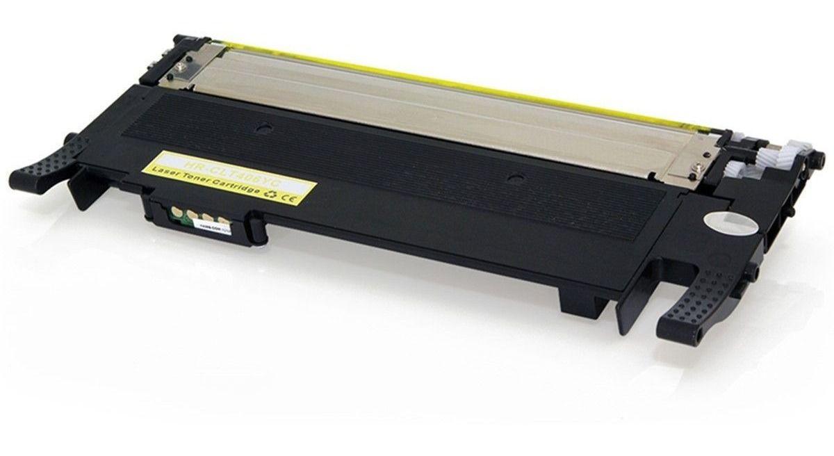 Toner compatível SAMSUNG CLT-Y406S Amarelo - CLP365W CLP360 CLP365 C460W C460FW - 1.000 Páginas - Cartucho & Cia