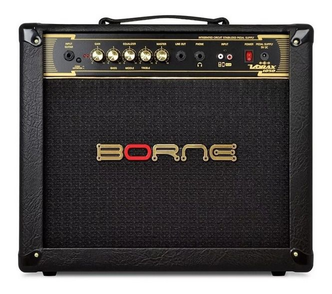"""Cubo Amplificador Guitarra Borne Vorax 1050 10"""" 50w"""