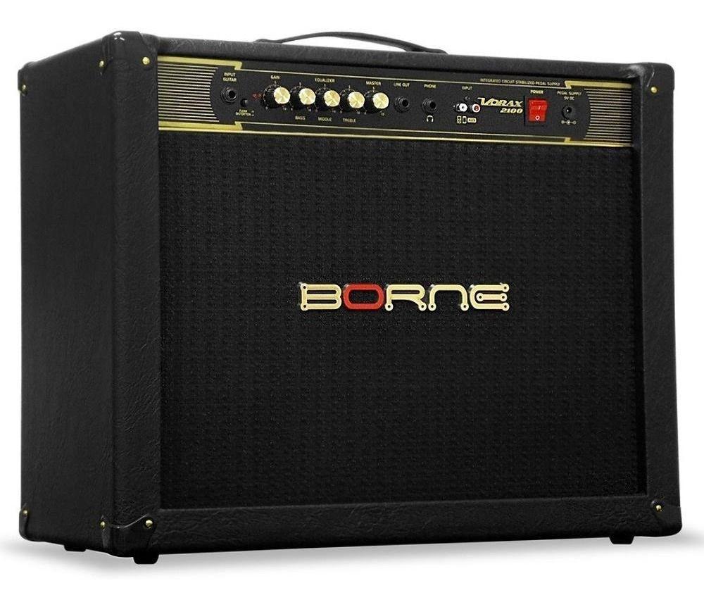 """Cubo Amplificador Guitarra Borne Vorax 2100 2 x 10"""" 100w"""