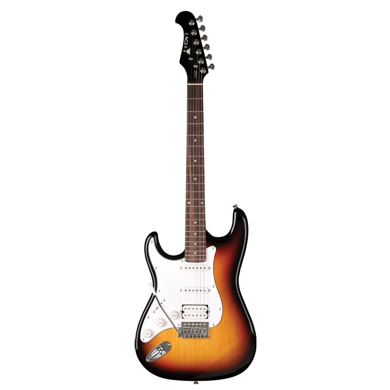 Guitarra Stratocaster Canhota Eagle TS002 Sunburst LH