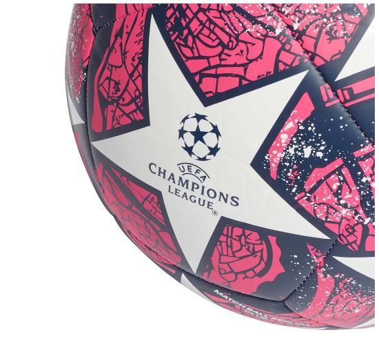 BOLA DE FUTEBOL CAMPO ADIDAS UEFA CHAMPIONS LEAGUE CLUB FINAL ISTANBUL 20 - BRANCO