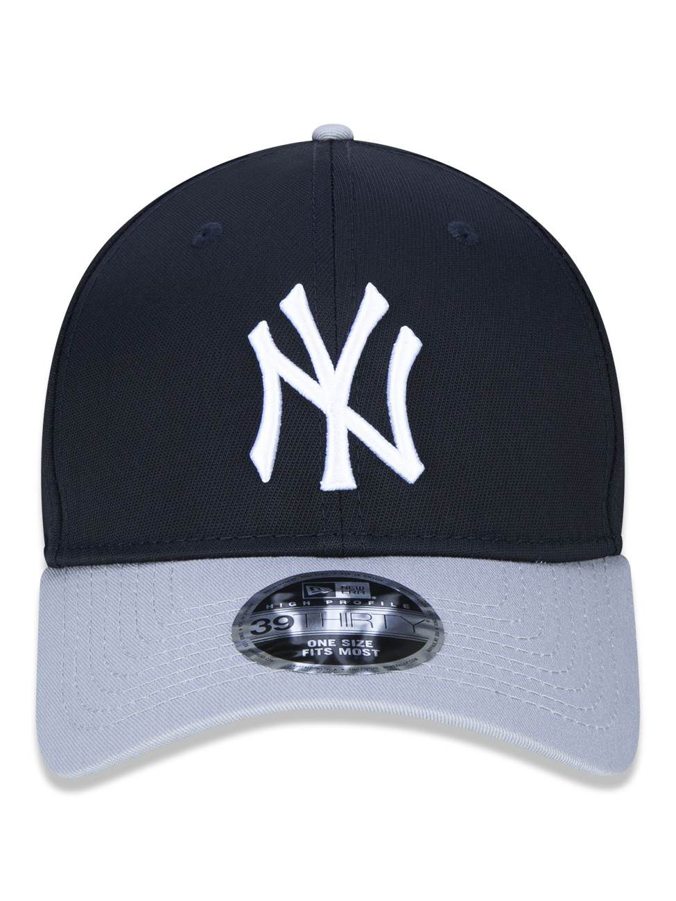 BONÉ 3930 HIGH CROWN MLB NEW YORK YANKEES - MARINHO E CINZA