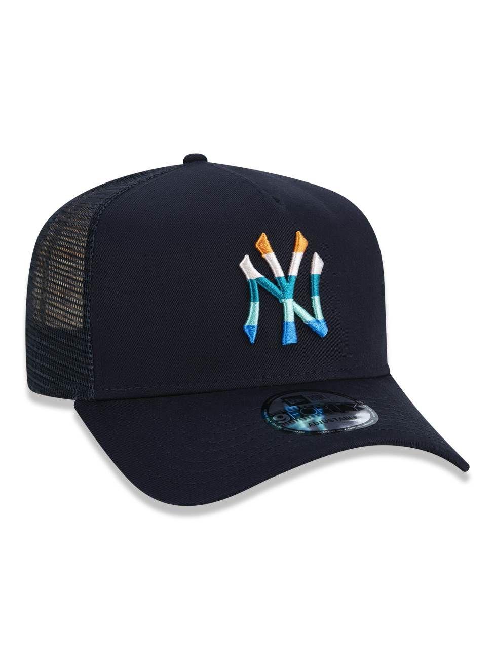 BONÉ 940 A-FRAME AJUSTÁVEL LOGO COLORS MLB NEW YORK YANKEES - MARINHO